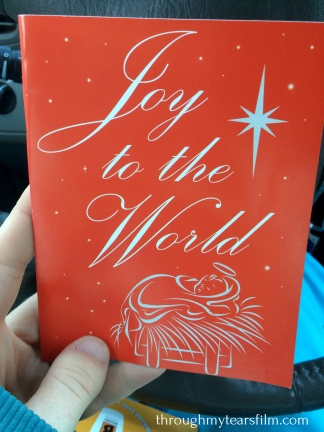 Someone came up to encourage me on the sidewalk and gave me thing Christmas card and gift. Thank You!